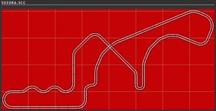 Scalextric Track Plan - Suzuka