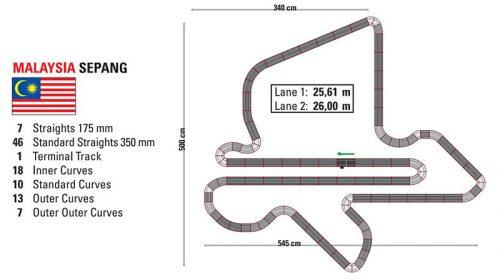 SCX Slot Car Track Plans Sepang