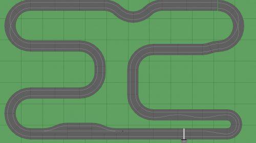 STP Track 1 w Pit - 7x12 Scalextric Digital Track