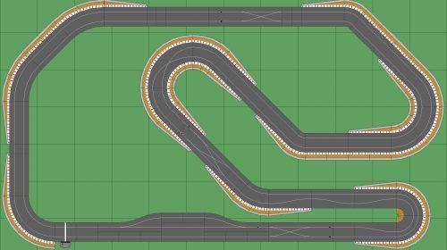 STP Track 2 w Pit - 7x12 Scalextric Digital Track