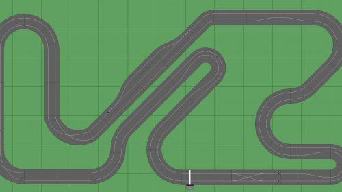 STP Track 3 w Pit - 7x13 Scalextric Digital Track