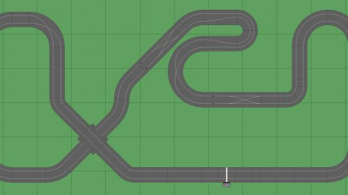 STP Track 4 - 6x14 Scalextric Digital Track