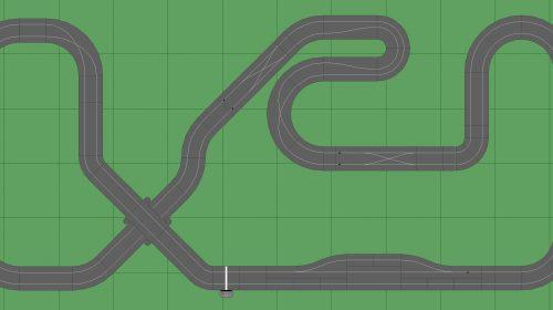 STP Track 4 w Pit - 6x14 Scalextric Digital Track