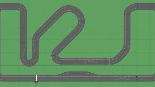 STP Track 5 w Pit - 7x13 Scalextric Digital Track