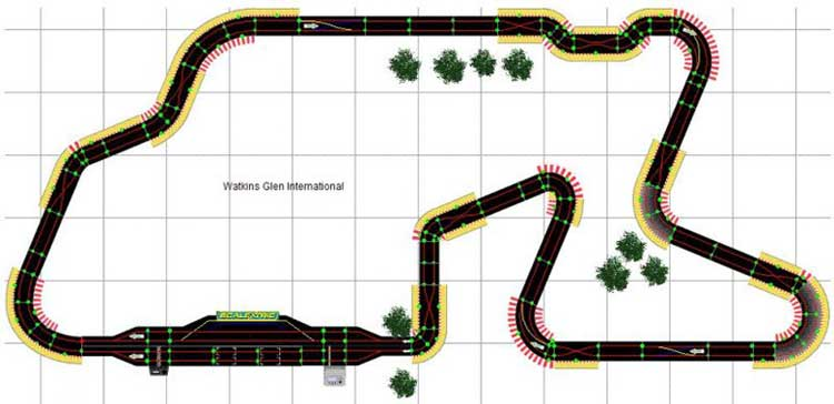 Scalextric Track Layouts